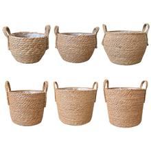 Panier de rangement en rotin pour herbes de mer, Pot de fleurs pour le linge en vente, livraison directe
