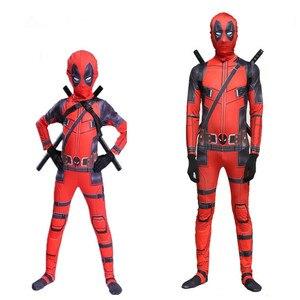 Image 1 - Deadpoo Death Serve 2 Tights Halloween Costume Adult Children Dead Cosplay Costume Adult Set
