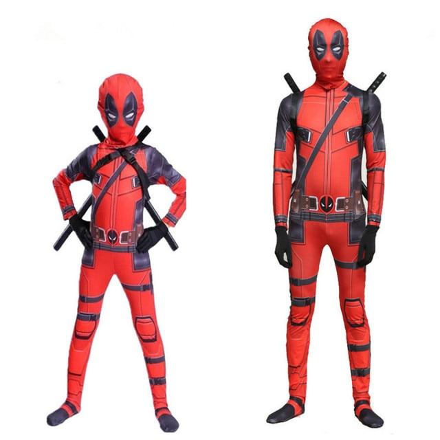 Deadpoo Death Serve 2 Tights Halloween Costume Adult Children Dead Cosplay Costume Adult Set