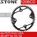 Каменное кольцо для XX X9 120 BCD Овальный 36t 38T 40T 44 46T 48T дорожный MTB велосипед 120bcd для sram зубная пластина