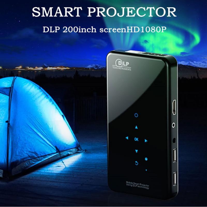 Mini projektor dlp X2 Android 7.1RK3128 1G/2G RAM 8G/16G ROM 5G WIFI Bluetooth4.0 1080P kino domowe przenośne wideo 3D Beamer Hot