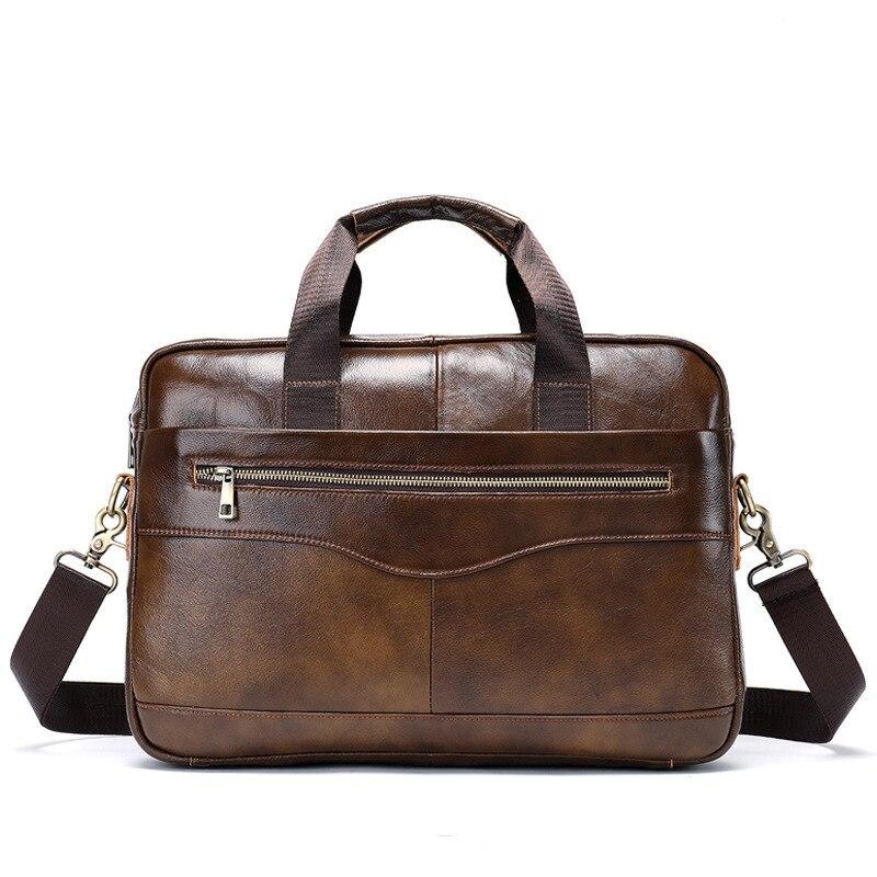 Genuine Leather Male Package Man Leisure Time Business Affairs Briefcase Cross Section Men's Single Shoulder Satchel Handbag Hot