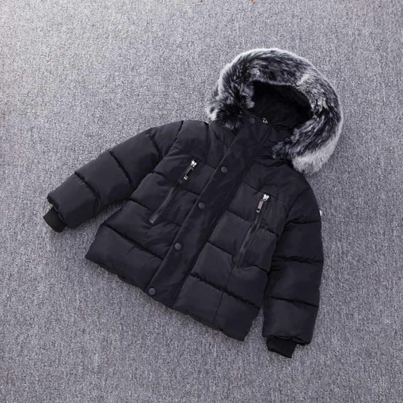 מכירה לוהטת בנות מעיל החורף למטה מעילי בני תלבושות לילדים בגדי הסווטשרט צמר לעבות הלבשה עליונה תינוק בני בגדים