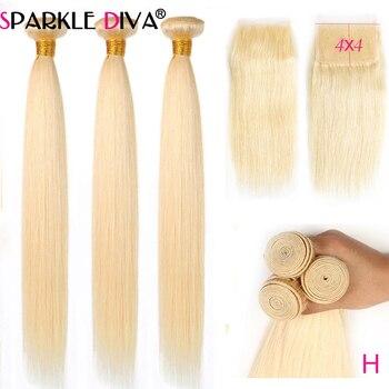 Mechones de cabello humano postizo con cierre de 5x5, mechones de cabello...