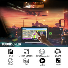 T600 Latest Waterproof Sat Nav GPS Navigator 256M RAM 8GB ROM 7 LCD HD GPS Car Logger Receiver Tracker Free Lifetime Maps POI 5 inch tft lcd display car navigation device gps navigator sat nav 8gb 560 high sensitive gps receiver america map