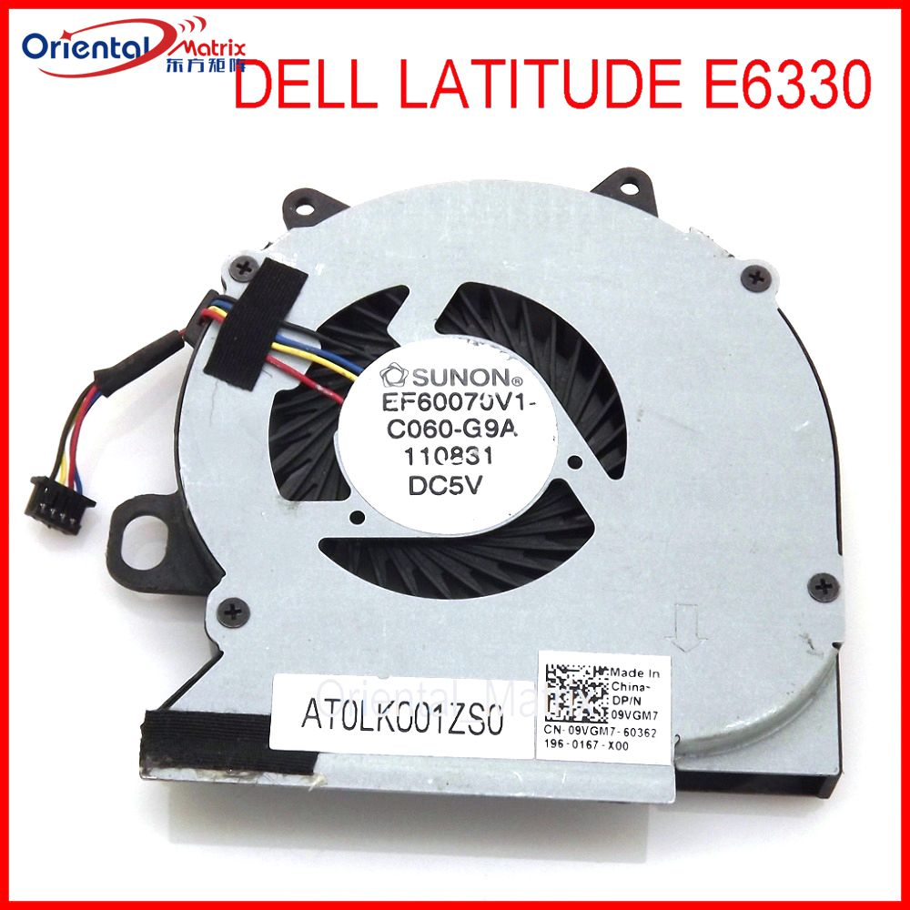 QUETTERLEE Replacement New Laptop CPU Cooling Fan For Dell Latitude E6330 EF60070V1-C060-G9A DC5V 9VGM7 CN-09VGM7 Cooling FAN