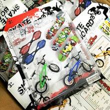 Мини 7 шт/компл Пальчиковый скейтборд и bmx велосипед игрушка