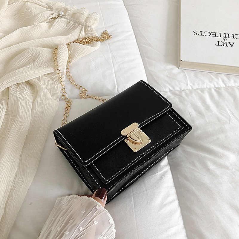 Yaz küçük kadın 2020 yeni kore moda hit renk küçük kare çanta basit vahşi mini omuz askılı çanta