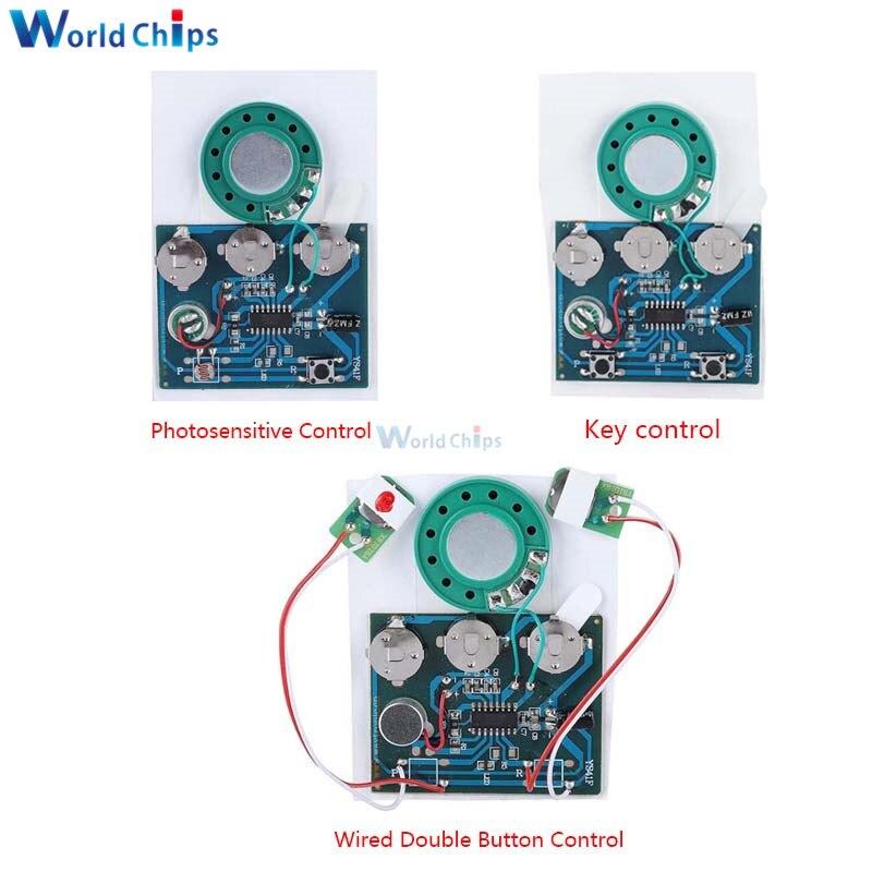 30S звукозаписывающая плата, светочувствительная плата, программируемый чип управления ключом, аудио модуль для открытки, сделай сам
