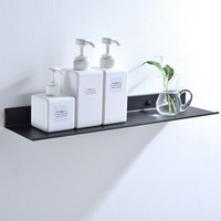 Black Bathroom Rectangular Shelf Rack before the Mirror Alumimum Matte Bathroom Storage Rack 50/40/30 CM