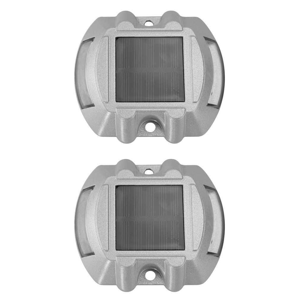 2pcs Solar Road Stud Paving Road IP68 Waterproof Path Light Outdoor Driveway Pathway Yard Garden Step Lamp Warning Light
