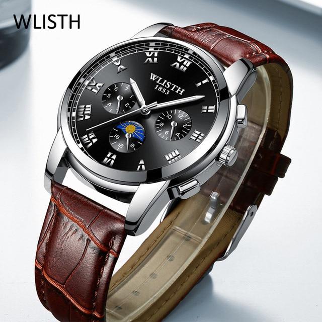Fashion Luxury Brand Men Watches 2020 Luxury Quartz Wristwatch Stainless Steel Leather Watch Vintage Male Hand Watch Clocks Wach