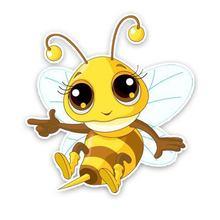 Новый милой пчелы автомобиля стикеры и отличительные знаки высокого