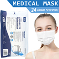 Medical Surgical Mask Disposable Face Mouth White Mask Non-woven Filter Anti Medical Mask 3-Layers Protective Adult Mascarilla