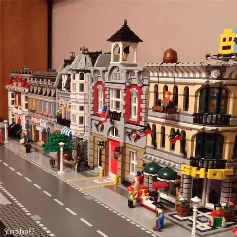 Image 3 - Urban Street View Series 15001 15002 15003 15004 15005 15006 15007 15008 15009 15010 12 Assembled Building Block Puzzle Toys-in Stacking Blocks from Toys & Hobbies