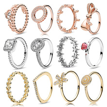 Boosbiy 2019 Hot Sale 52 Styles Stackable Party Finger Ring For Women Original Brand Heart Crown Engagement Jewelry