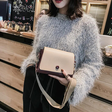 Casual Flap Wide Strap Crossbody Bags Fashion Pu Small Flap Bags Women Shoulder Bags  Panelled Shoulder Bag Lady Handbags Purse цена 2017