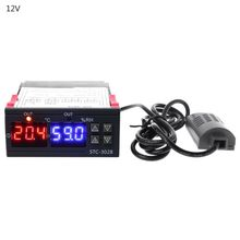 110-220V 12V 24V LED Digital Temperature Humidity Controller Thermostat Humidistat Therometer Hygrometer