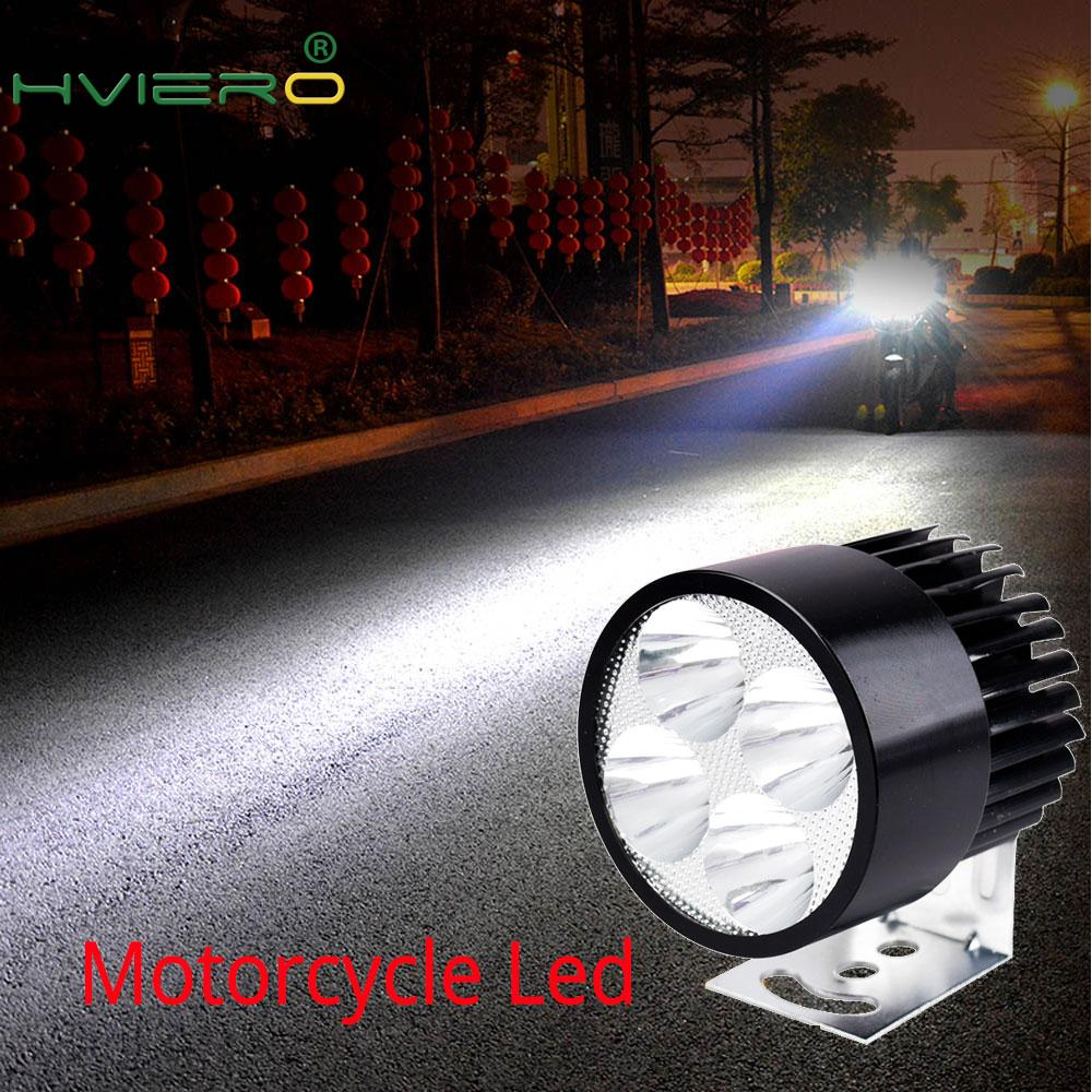 Motorcycle LED Headlight 12V-90V 4Led 6Led 9Led Electric Bicycle Battery Auto Motorbike Waterproof Fog Light External Rogue Lamp
