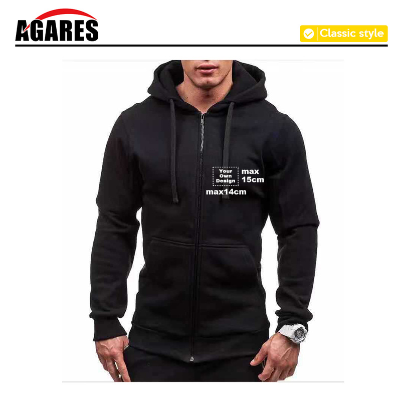 Men Solid Zip Up Hoodies Classic Modis Winter Hoodies Sweatshirt Jacket Coat Long Sleeve Casual Male Zipper Pocket Hoodies SA-8