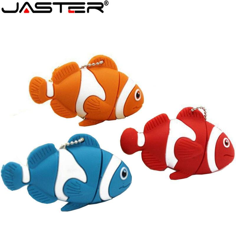 JASTER Cute Cartoon Animal Fish Usb Flash Drive Memory Stick Pen Drive Pendrive 4GB 8GB 16GB 32GB 64GB U Disk