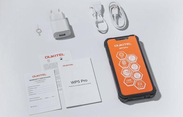 OUKITEL 4GB 64GB WP5 Pro Smartphone 8000mAh 5.5 Inches Android10 Mobile Phone Triple Camera Face/Fingerprint Unlock IP68 Phone 6
