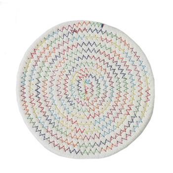 Chłonne plecione podstawki pod kubek ręcznie bawełniane liny okrągłe podstawki podstawki do ochrony biurka stołowego EIG88 tanie i dobre opinie CN (pochodzenie) 270234 Ekologiczne Na stanie W stylu japońskim ROUND Pościel