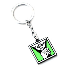 Game Rainbow Six 6 Siege Keychain Skull gun Metal Key chain Male Anime Ring Holder Porte Clef Gift Jewelry Fashion