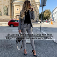 YIWUMENSA Plaid Check 2-Pieces Women Suits Blazer Jacket With Trousers Fashion Mother Of Bride Formal Wedding Coat Custom Made