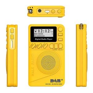 Image 5 - Mini rádio portátil p9 com bolso, rádio fm com tela lcd, bateria recarregável, dab + rádio digital, ue p9 dab, 2020 + alto falante alto falante