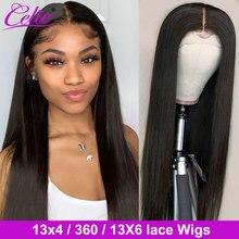 Perruque Lace Frontal Wig 360 naturelle Remy – Celie, cheveux lisses, 13x4, 13x6, 30 pouces, pour femmes