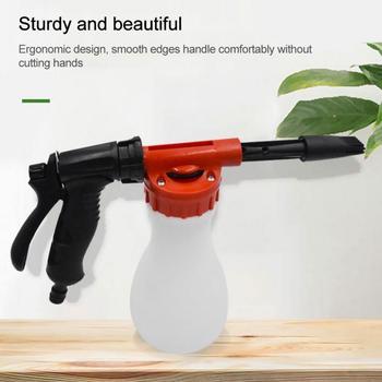 Pistolet na wodę 800ml myjnia samochodowa pianka śnieżna pistolet spryskiwacz butelkowy mydło atomizer na szampon do węża ogrodowego okno mydło czyszczenie mycie tanie i dobre opinie JOSHNESE CN (pochodzenie) Tworzywo sztuczne inżynieryjne Do dłoni Prysznic dropshiping wholeslae Water Spray Gun ABS + TPR