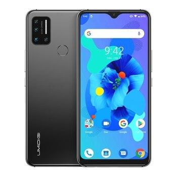 Перейти на Алиэкспресс и купить UMIDIGI A7 6,49 дюймIPS экран 4 Гб + 64 Гб Смартфон Helio P20 Восьмиядерный Android 10 разблокировка лица двойной 4G мобильный телефон 4150 мАч 5 AI Cam