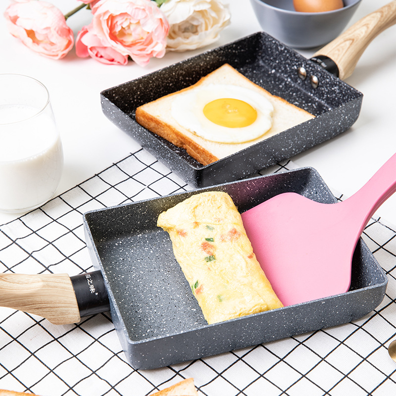 Tamagoyaki Omelette Non-stick Frying Pan Fry Eggs Pan Pancake Kitchen Pot Only Use For Induction Cooker Gas Cooker