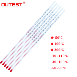 Image 2 - alcohol red liquid glass thermometer red water thermometer glass rod thermometer bar table water temperature meter