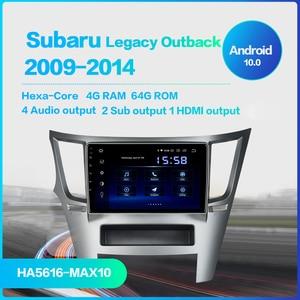 "Image 2 - Dasaita Auto 1 din Radio Android 10,0 TDA7850 für Subaru Legacy Outback 2009 2010 2011 2012 2013 2014 USB MP3 9 ""IPS Touchscreen"