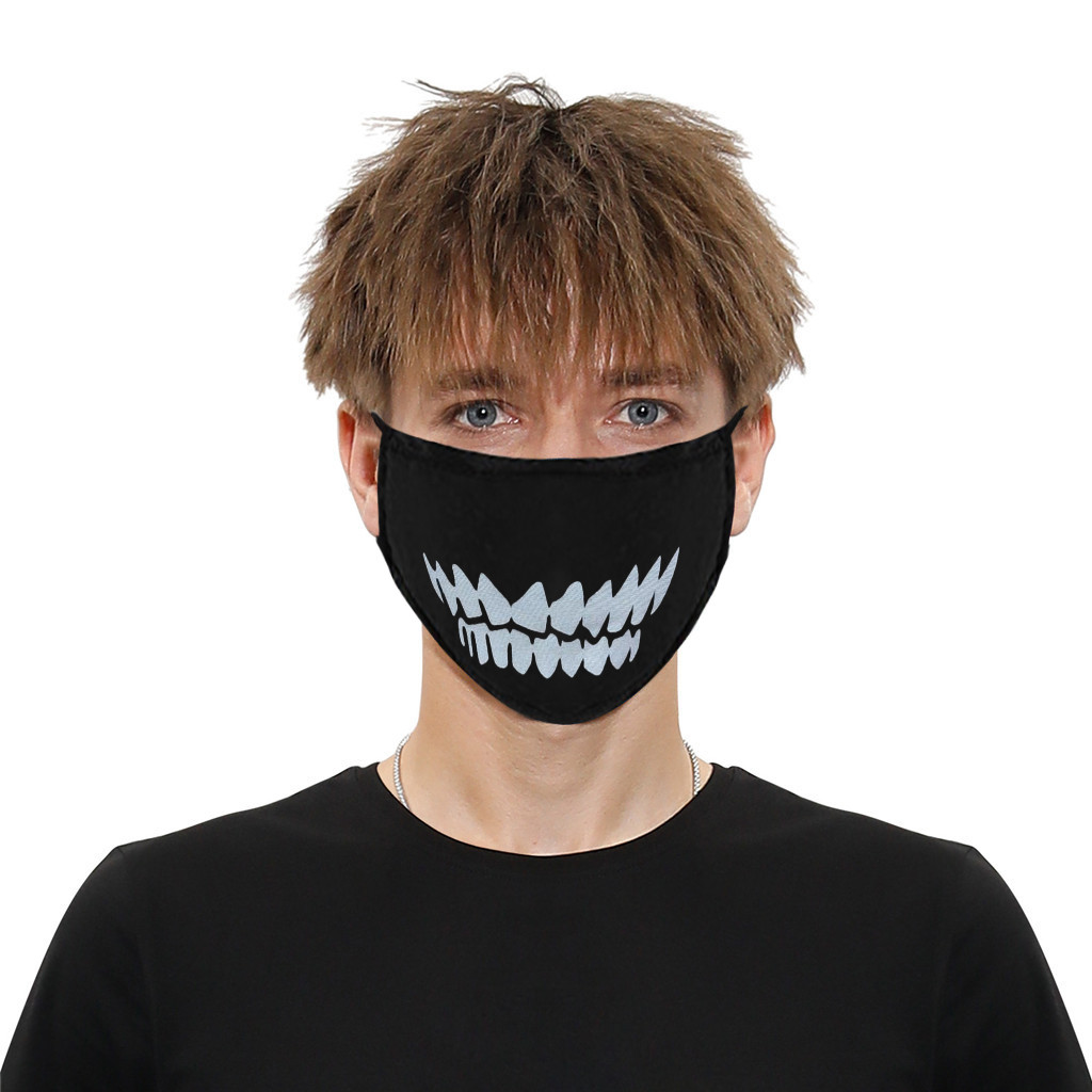 Anime Mask Winter Warm Mouth Cotton Protective Mouth Mask Dust Face Mask Cartoon Face Dustproof Reusable Adult Kids Mouth Mask