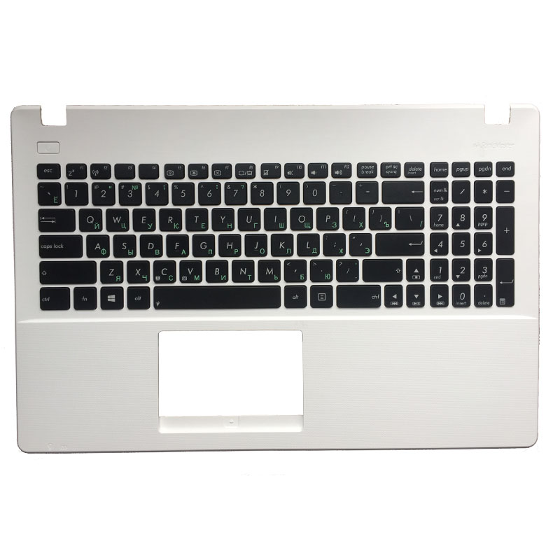 NEW Russian For Asus X551 X551C X551M X551S RU Laptop Keyboard White With Palmrest Upper Cover