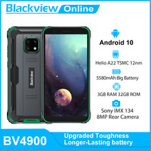 Blackview-teléfono inteligente BV4900, resistente al agua IP68, 3GB + 32GB, 5,7 pulgadas, 5580mAh, Android 10, NFC
