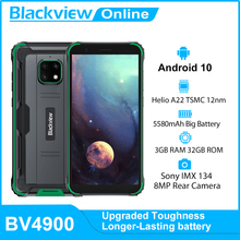 Blackview BV4900 IP68 Wasserdichte Robuste Smartphone 3GB + 32GB 5,7 zoll Handy 5580mAh Android 10 NFC handy