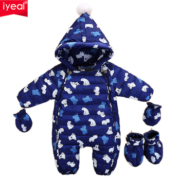 IYEAL Fashion  Winter Coat for Newborn Hooded Warm Down Jacket for Boys Girls Romper Children's Clothing Kid Parka Snow Wear