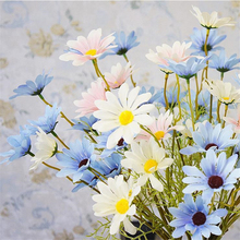 1pc Artificial flowers Daisy Fake Preserved Eternal Life Aster novi-belgii DIY House Decoration Craft 5 Flower heads