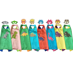 Toddler Costumes Dinosaur Capes with Felt Masks Double Side Birthday Cosplay(China)