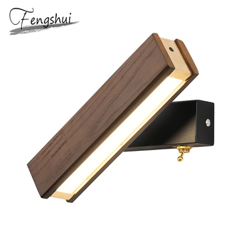 Nordic Copper Iron LED Wall Lamps Indoor Decor Rotatable Sconces Bedroom Light Fixture Bedside Living Room Aisle Wall Light