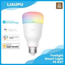 Yeelight inteligente lâmpada led 1s yldp13yl 8.5w rbgw trabalho com mijia homekit AC100-240V 1700k-6500k e27 800lm mesa lâmpada de assoalho