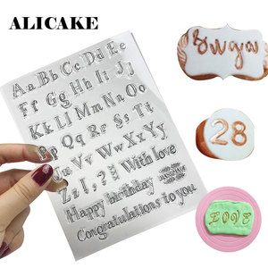 Number Alphabet Cookie Cutters Silicone Fondant Stamp Sticky Decorating Bakery Month Blessings Cutter Mold Cake Decorating Tools