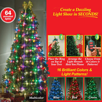 Christmas Tree Dazzler LED String Lights Colourful Changeable Twinkling Night Lamp Holiday New Year Garden Tree Decoration