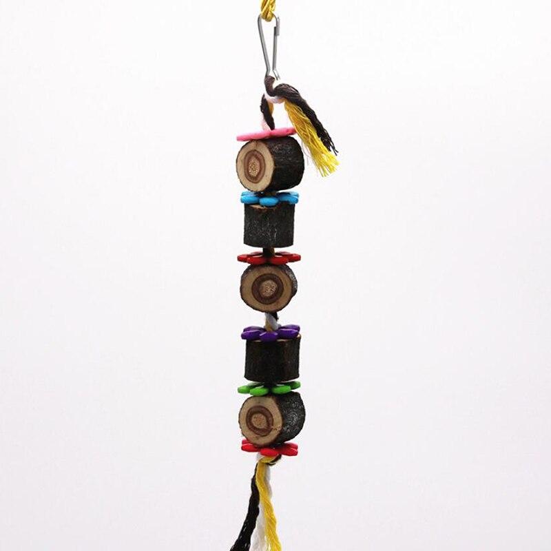 Высокое качество попугай игрушки Укус игрушка клетка аксессуары красочные малых и средних собак Игрушки для попугая висячая веревочная