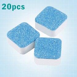 20 szt. Tabletki do czyszczenia pralka folia do czyszczenia rolek tlenowych niebieska w Środki do czyszczenia wnętrza pralek od Dom i ogród na