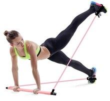 Pilates egzersiz sopa tonlama çubuğu Fitness ev Yoga spor salonu vücut egzersiz vücut karın direnç bantları halat çektirme